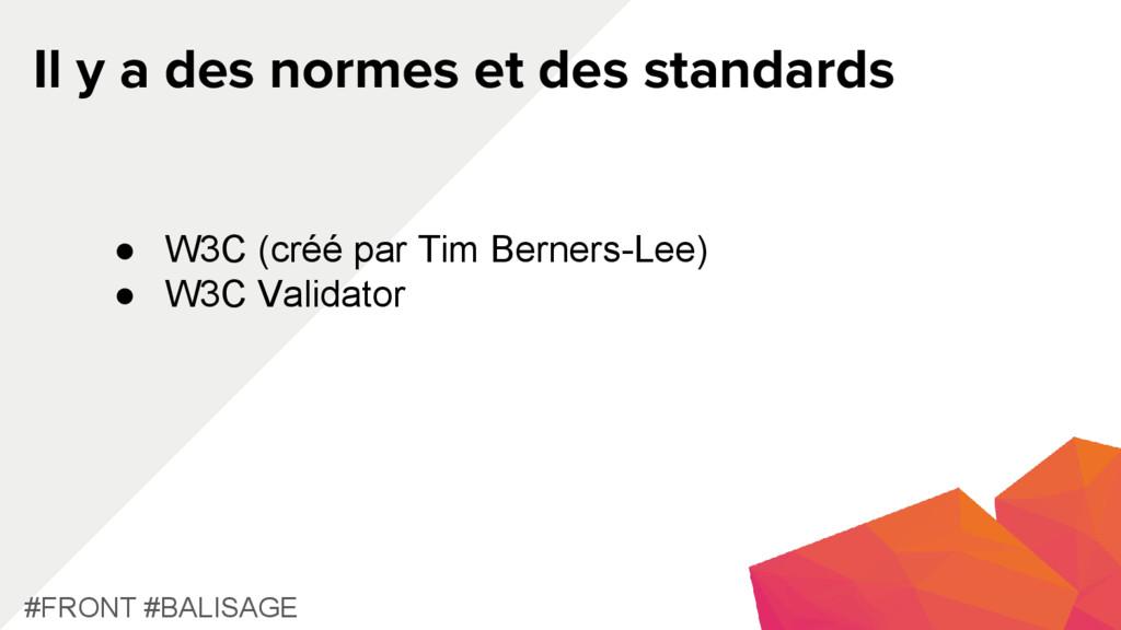 Il y a des normes et des standards #FRONT #BALI...