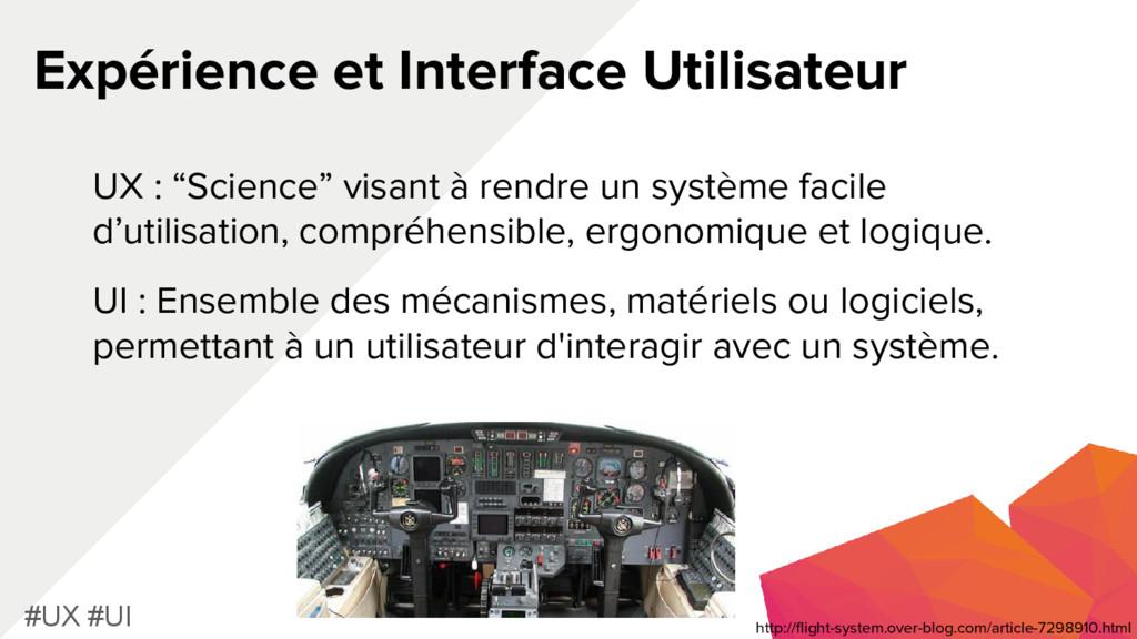 Expérience et Interface Utilisateur #UX #UI UX ...