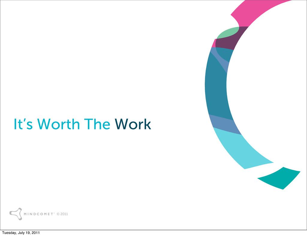 © 2011 It's Worth The Work Tuesday, July 19, 20...