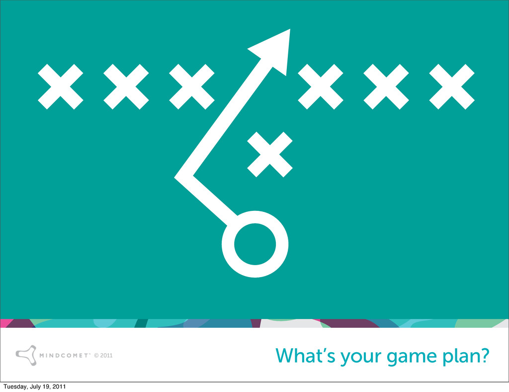 © 2011 What's your game plan? Tuesday, July 19,...