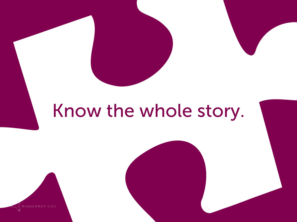 Know the whole story. © 2011