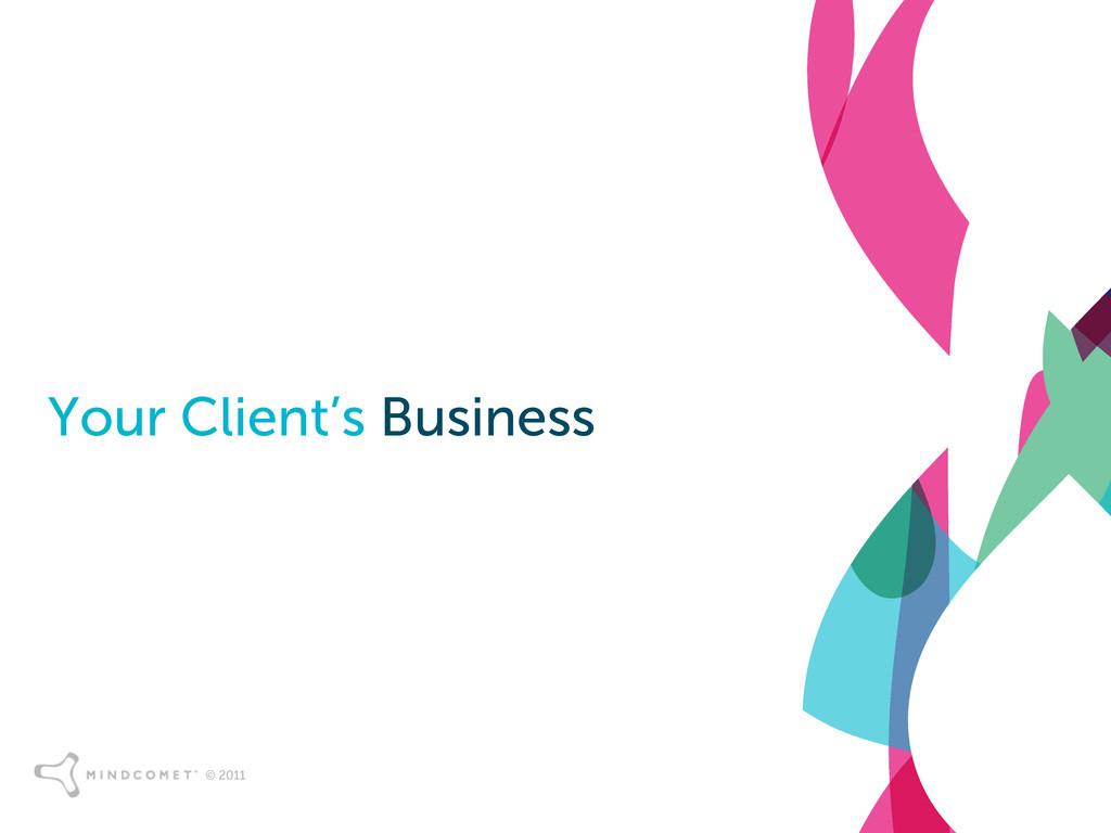 © 2011 Your Client's Business