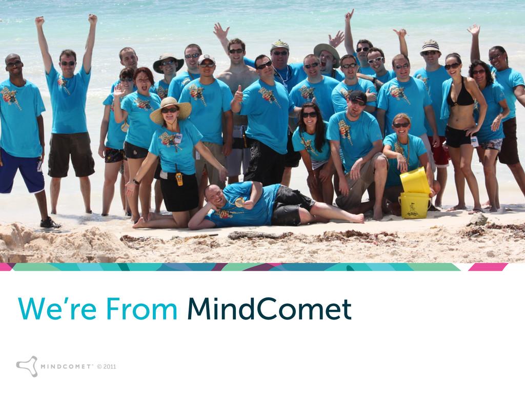 © 2011 We're From MindComet