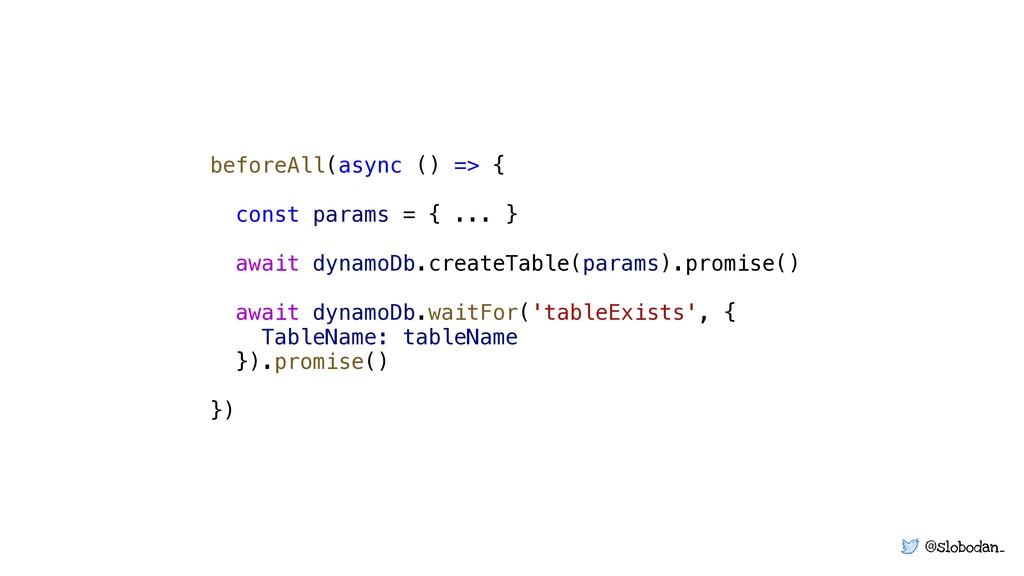 @slobodan_ beforeAll(async () => { const params...