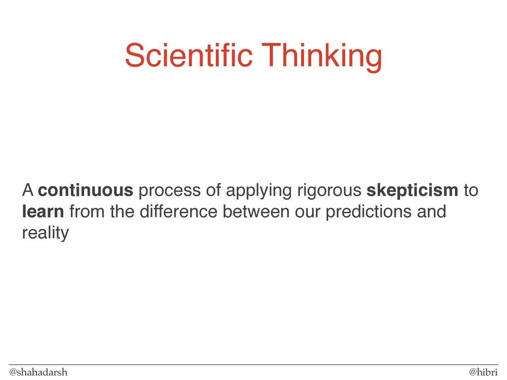 @shahadarsh @hibri Scientific Thinking A continu...