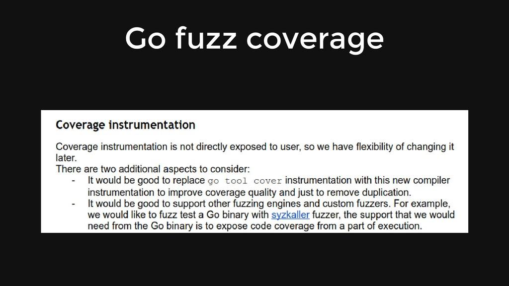 Go fuzz coverage