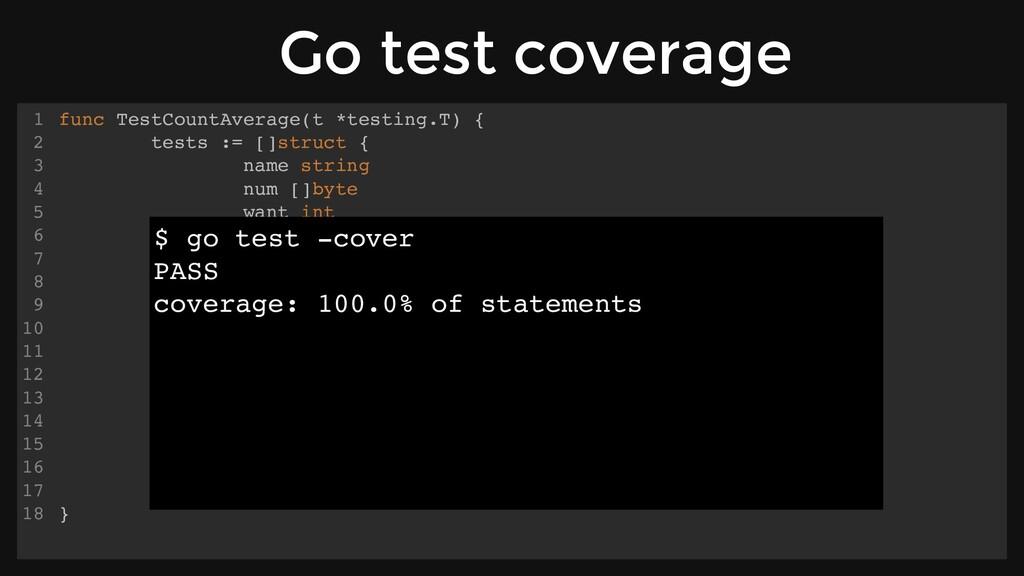 func TestCountAverage(t *testing.T) { tests := ...