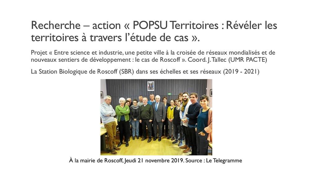 Recherche – action « POPSU Territoires : Révéle...