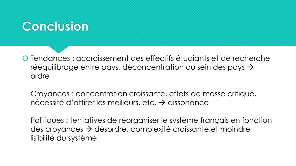 Conclusion  Tendances : accroissement des effe...