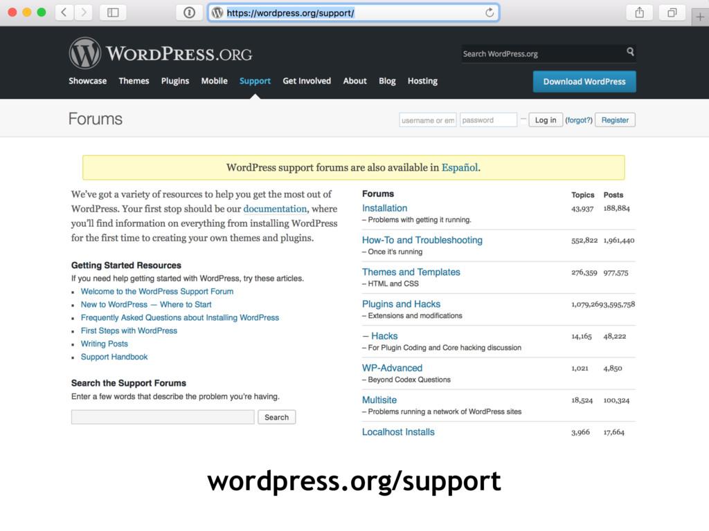 wordpress.org/support
