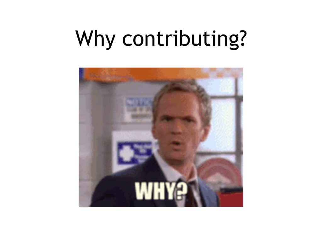 Why contributing?
