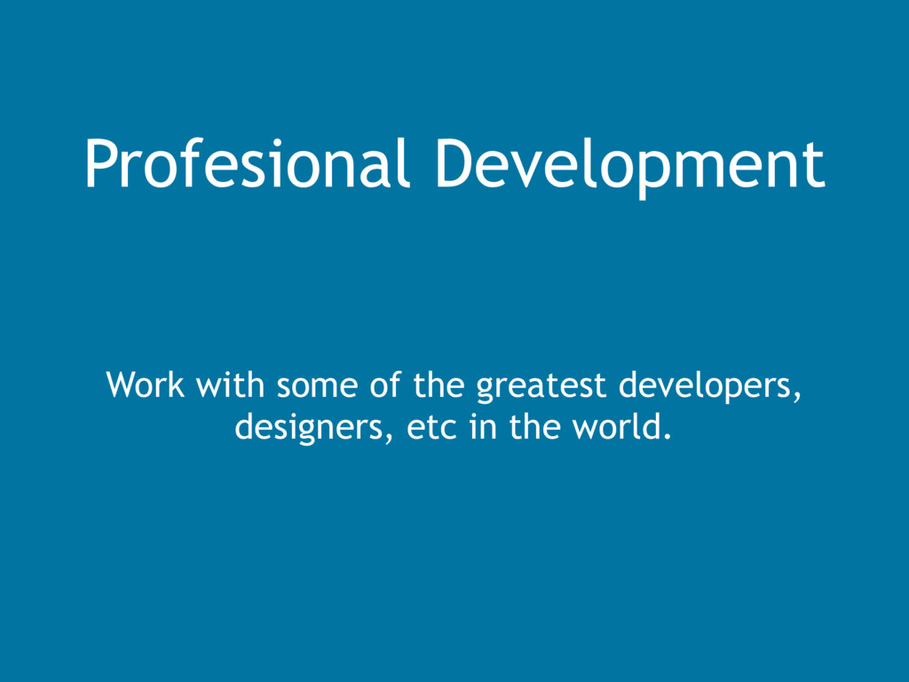 Profesional Development Work with some of the g...