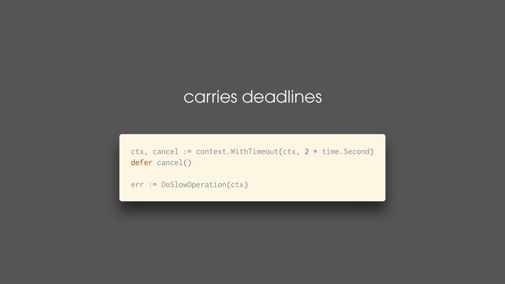 carries deadlines