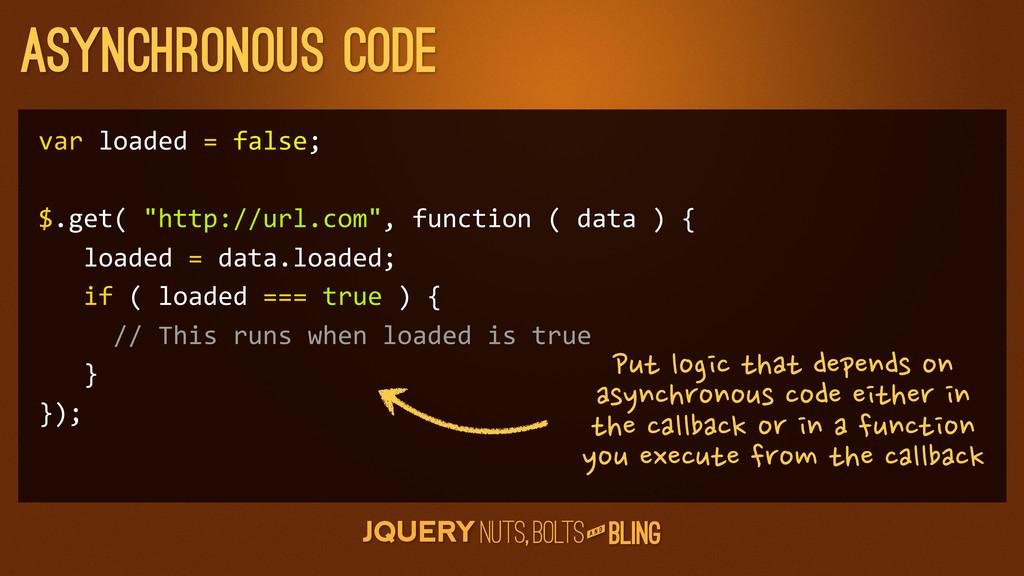 A N D Asynchronous code var loaded = f...