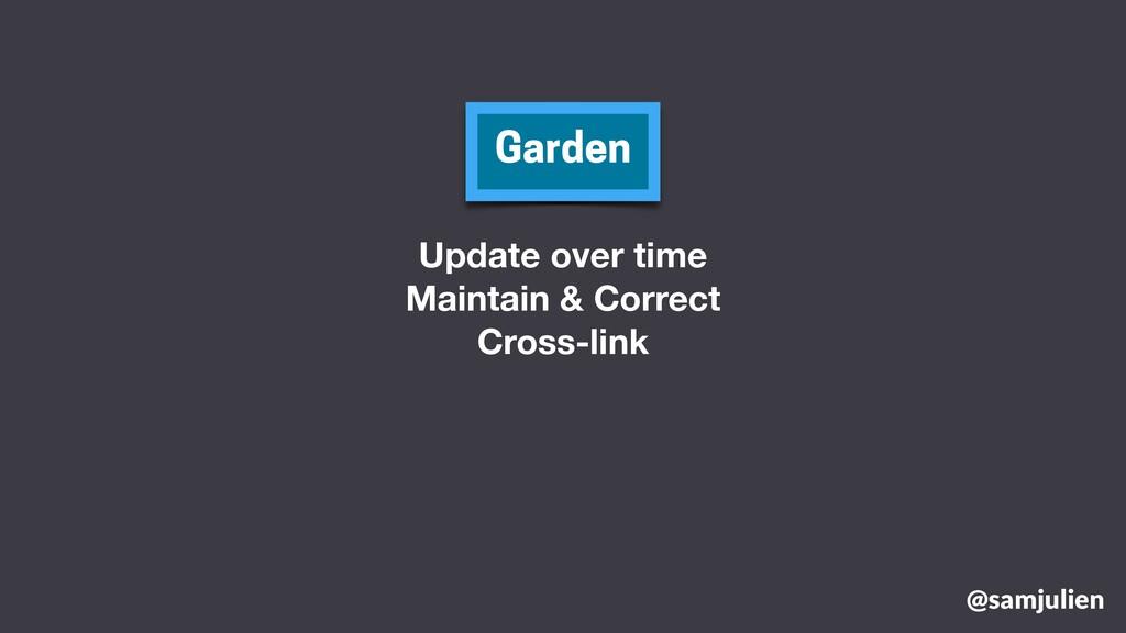 @samjulien Garden Update over time Maintain & C...