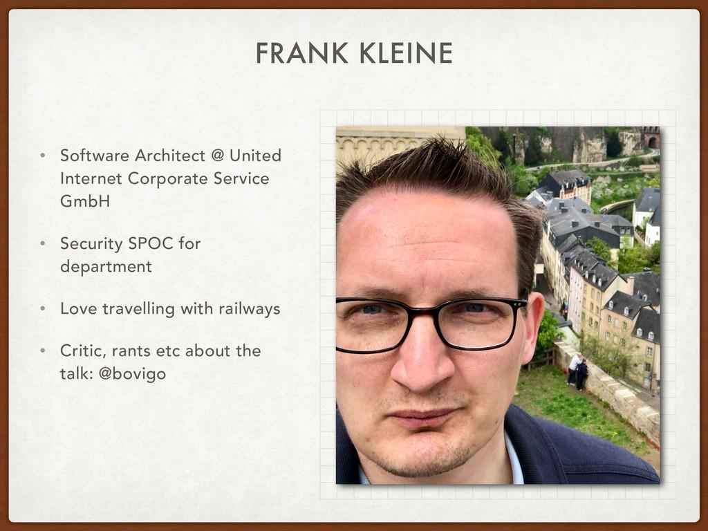 FRANK KLEINE • Software Architect @ United Inte...
