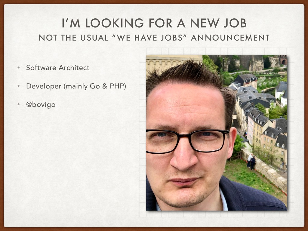 "NOT THE USUAL ""WE HAVE JOBS"" ANNOUNCEMENT I'M L..."