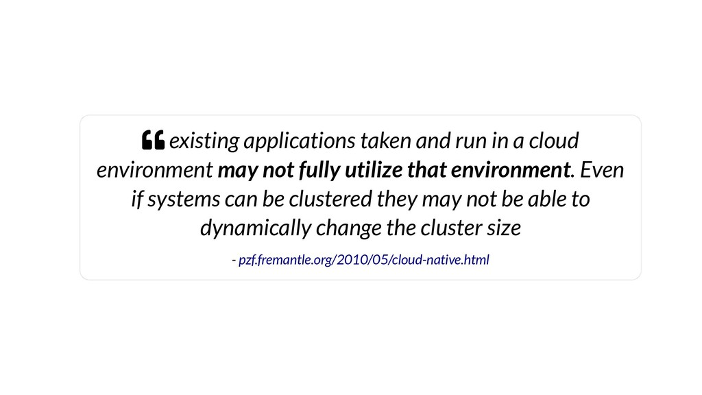 existing applications taken and run in a clou...