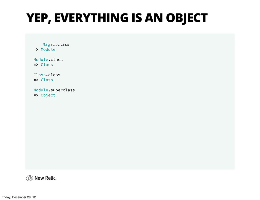 YEP, EVERYTHING IS AN OBJECT Magic.class => Mod...