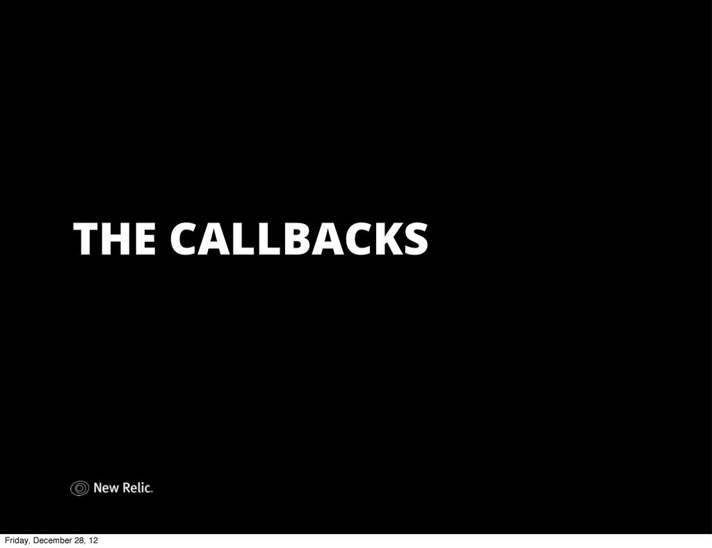 THE CALLBACKS Friday, December 28, 12