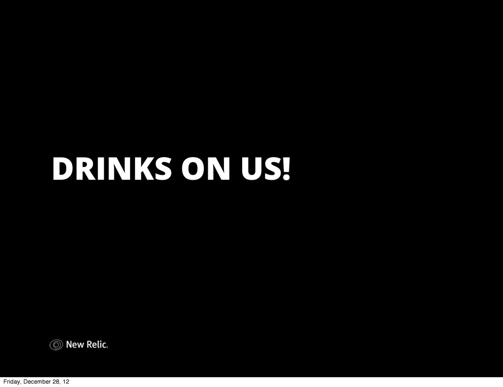 DRINKS ON US! Friday, December 28, 12