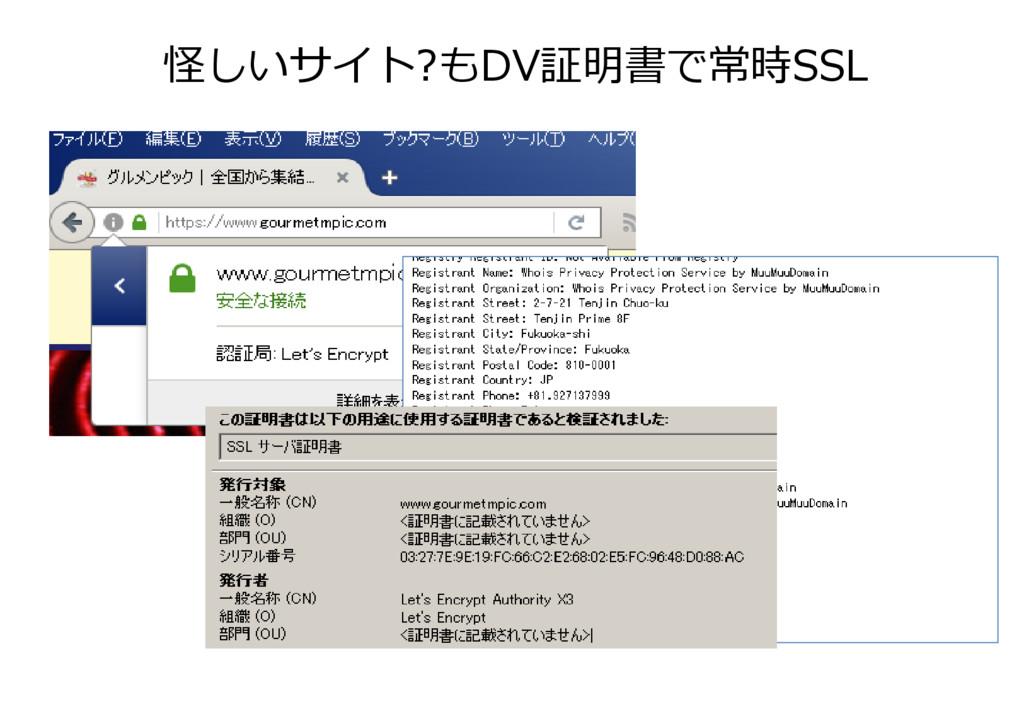 怪しいサイト?もDV証明書で常時SSL