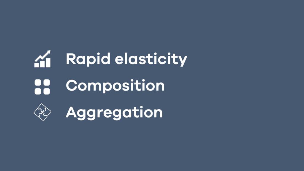 Rapid elasticity  Composition Aggregation