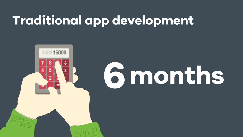 Traditional app development 6months