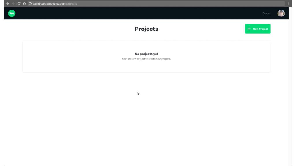 [create project]
