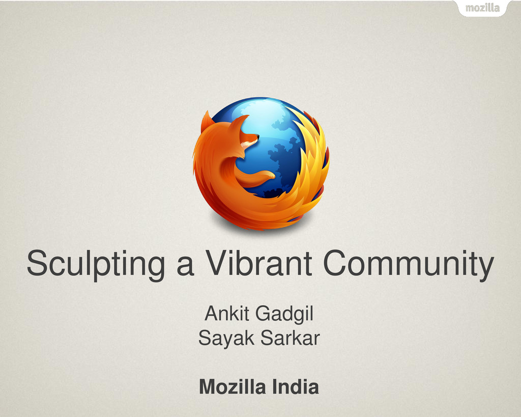 Text Sculpting a Vibrant Community Ankit Gadgil...