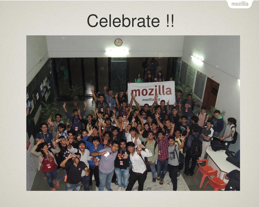 Celebrate !!