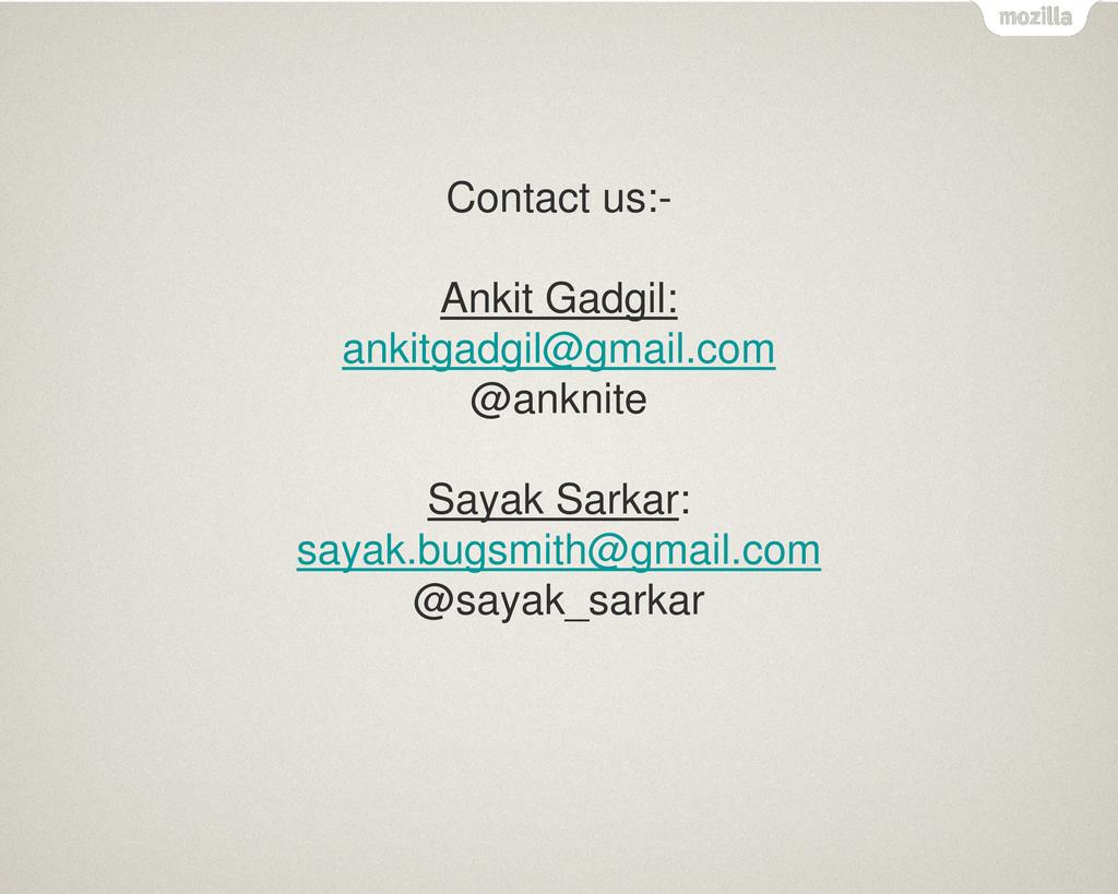 Contact us:- Ankit Gadgil: ankitgadgil@gmail.co...