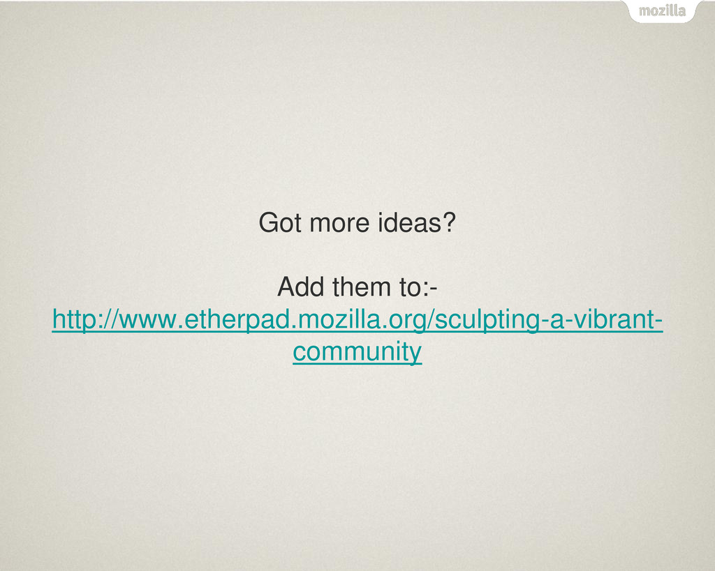 Got more ideas? Add them to:- http://www.etherp...