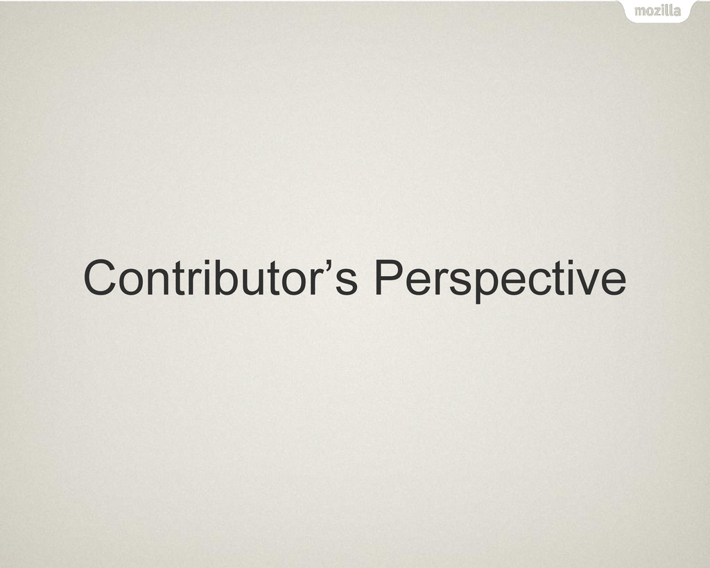Contributor's Perspective