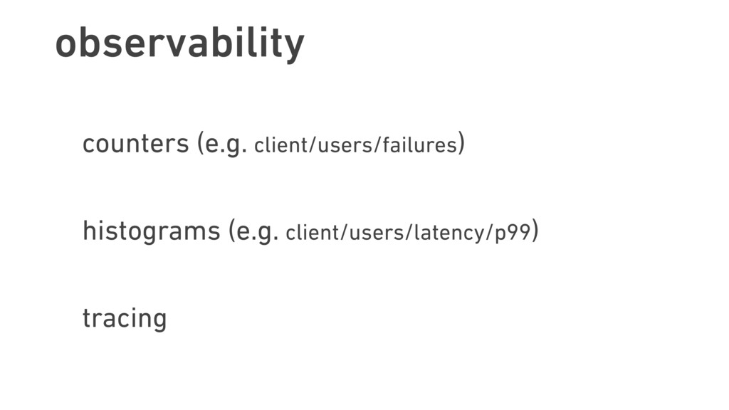 observability counters (e.g. client/users/failu...
