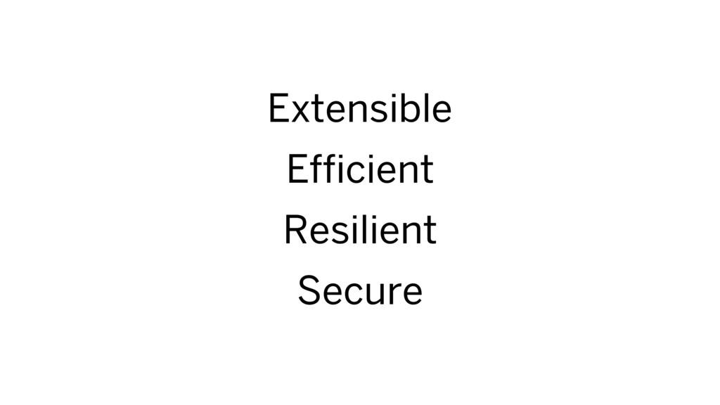 Extensible Efficient Resilient Secure