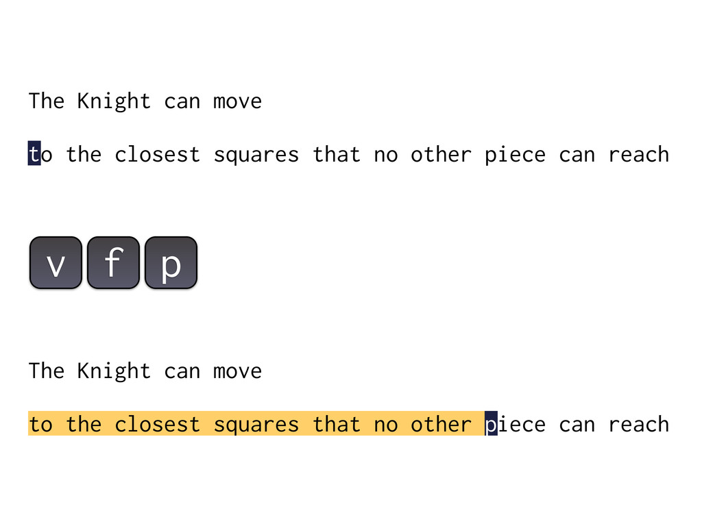 The Knight can move to the closest squares that...
