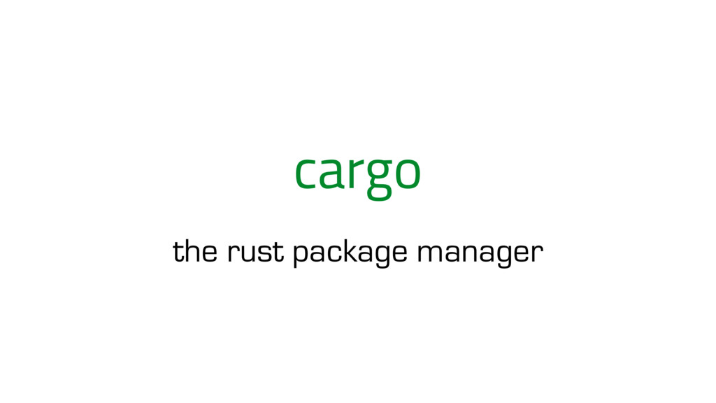 cargo the rust package manager
