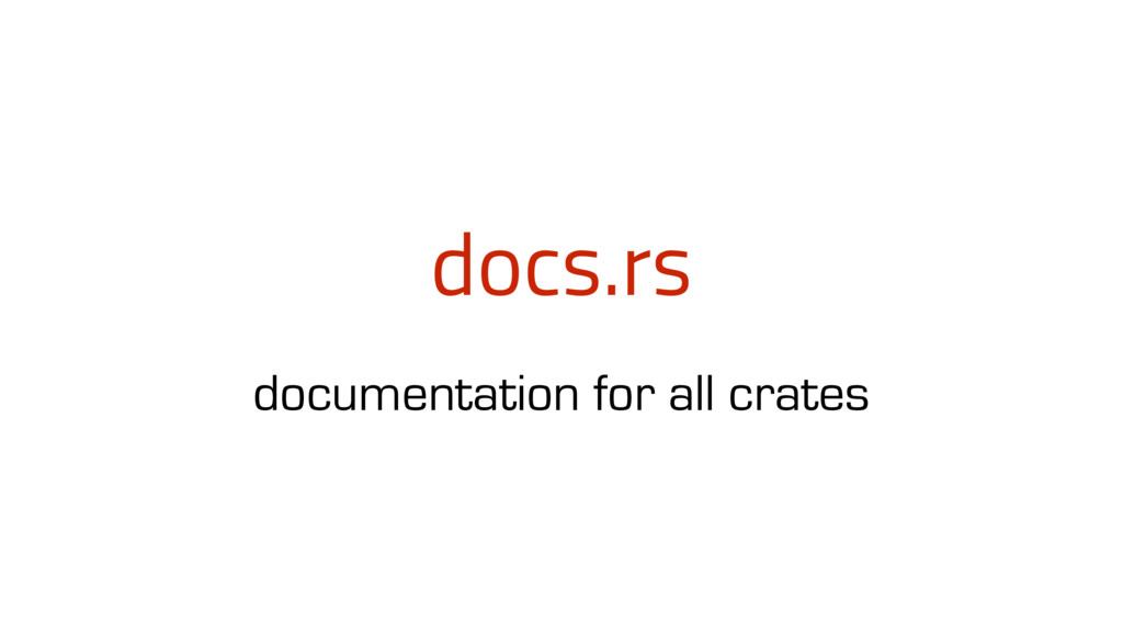 docs.rs documentation for all crates