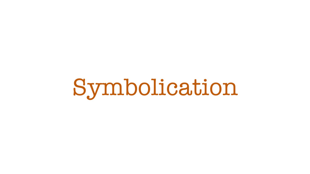 Symbolication