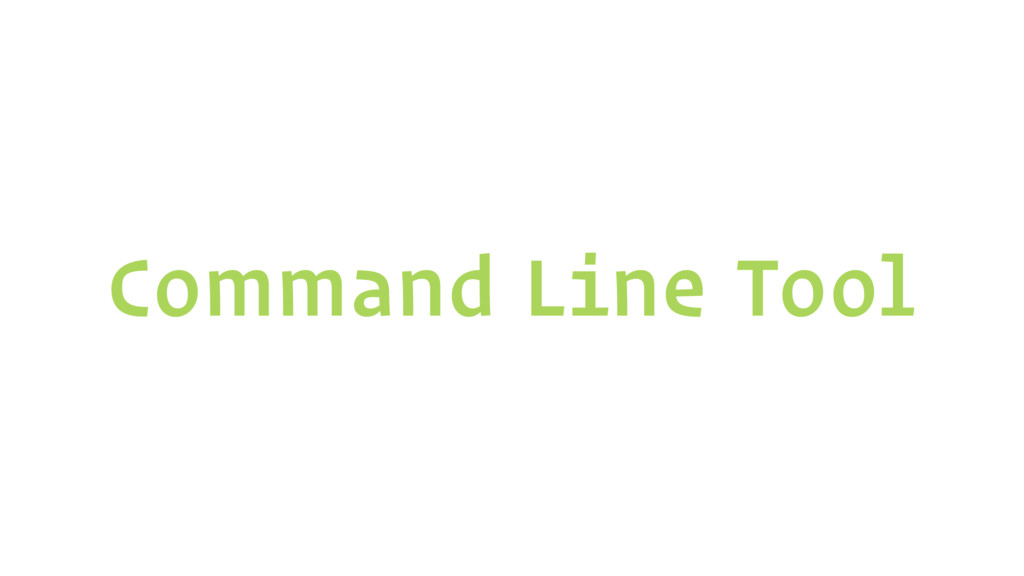 Command Line Tool