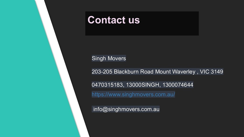 Singh Movers 203-205 Blackburn Road Mount Waver...