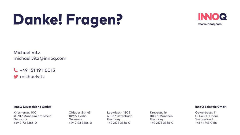 www.innoq.com innoQ Deutschland GmbH Krischerst...