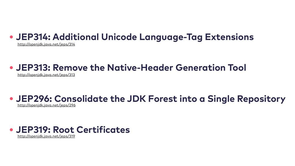 • JEP314: Additional Unicode Language-Tag Exten...