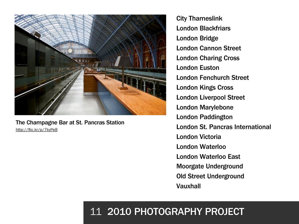 11 2010 PHOTOGRAPHY PROJECT City Thameslink Lon...