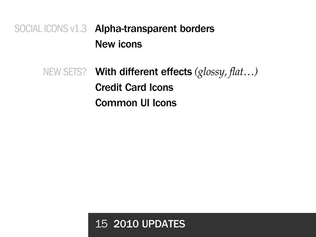 15 2010 UPDATES Alpha-transparent borders New i...