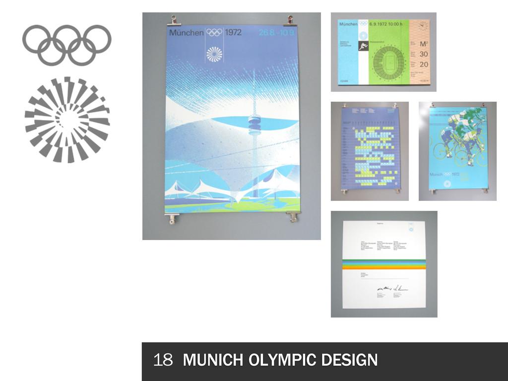 18 MUNICH OLYMPIC DESIGN