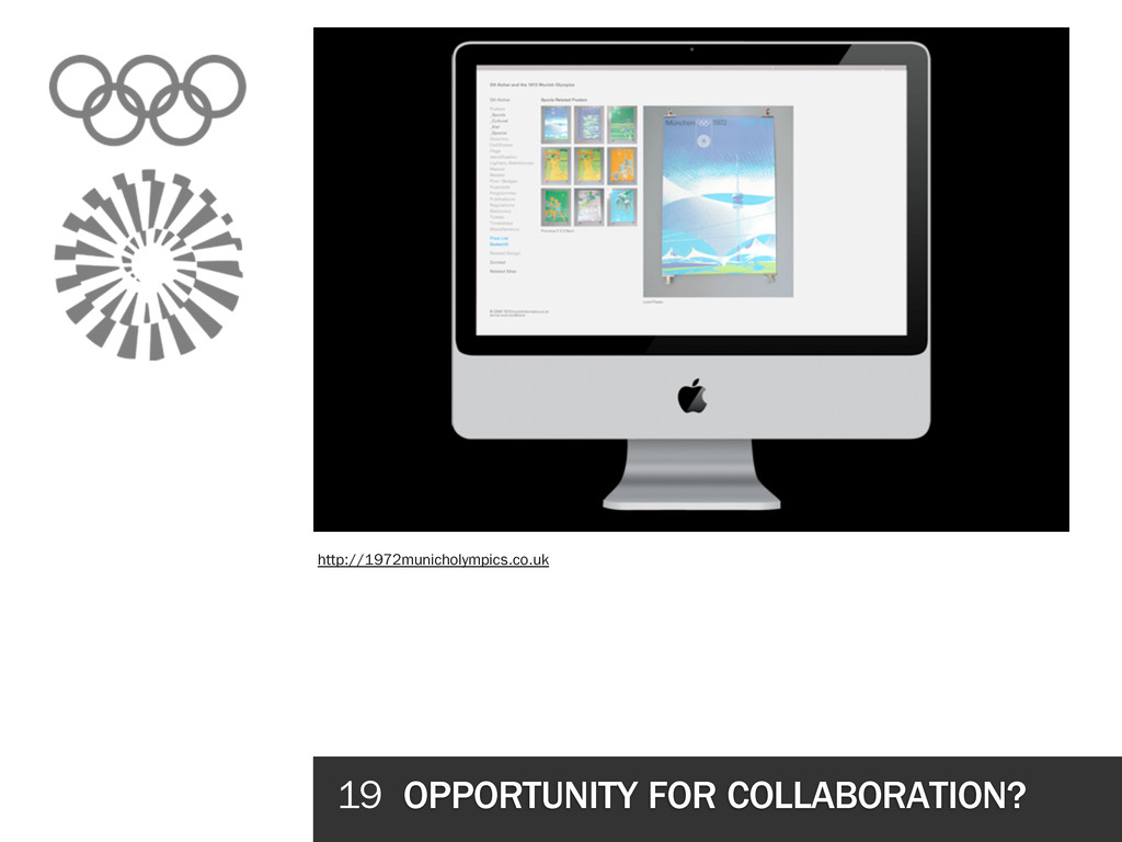 19 OPPORTUNITY FOR COLLABORATION? http://1972mu...