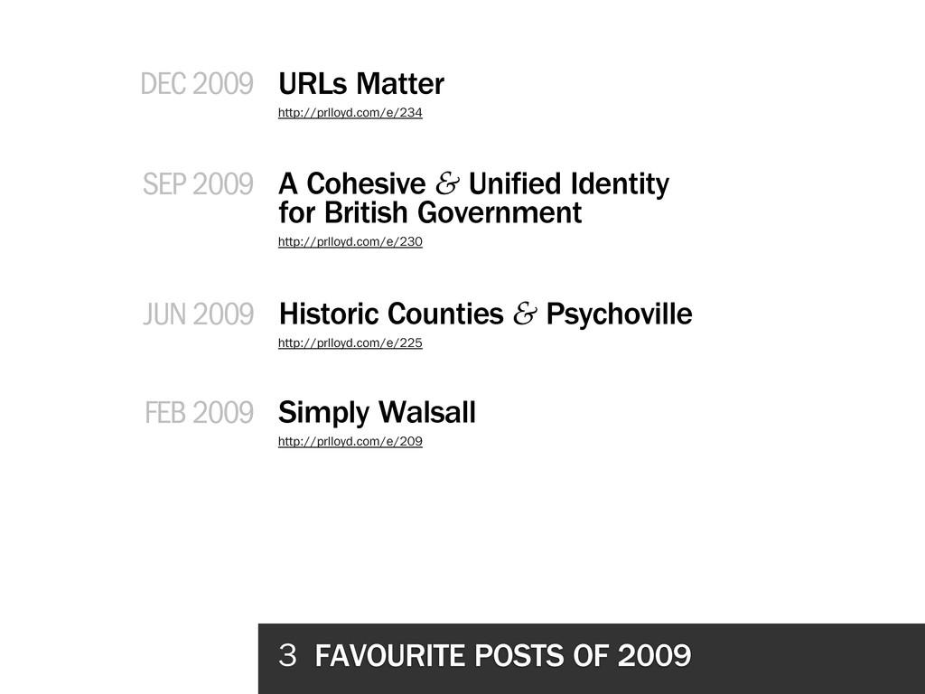 3 FAVOURITE POSTS OF 2009 URLs Matter A Cohesiv...