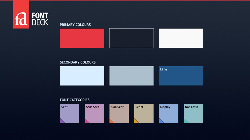 PRIMARY COLOURS FONT CATEGORIES Links Slab Seri...